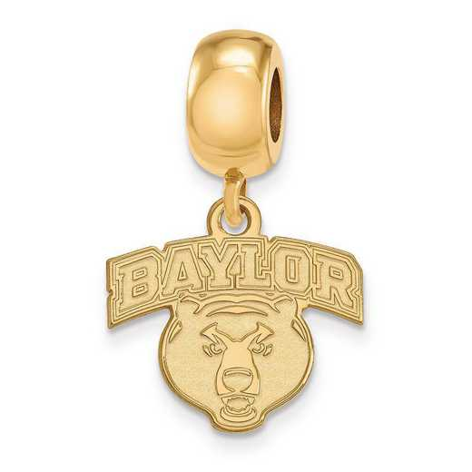 GP035BU: SS W/GP Logoart Baylor Univ Small Dangle Reflection Beads