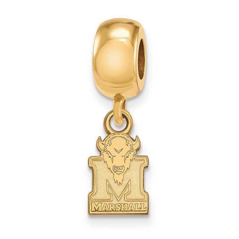 GP035MAU: SS W/GP Logoart Marshall Univ Xs Reflection Beads Charm