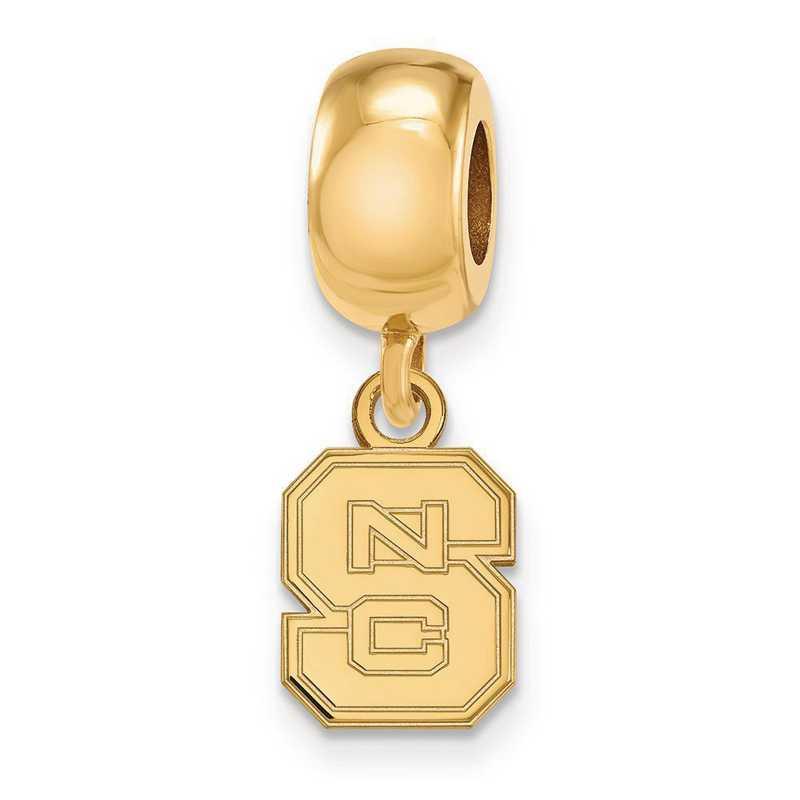 GP035NCS: SS/GP Logoart North Carolina St. U Xs Reflection Beads Charm