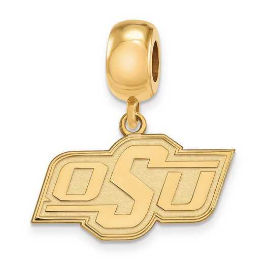 GP035OKS: SS W/GP Logoart Oklahoma State Univ Small Reflection Beads