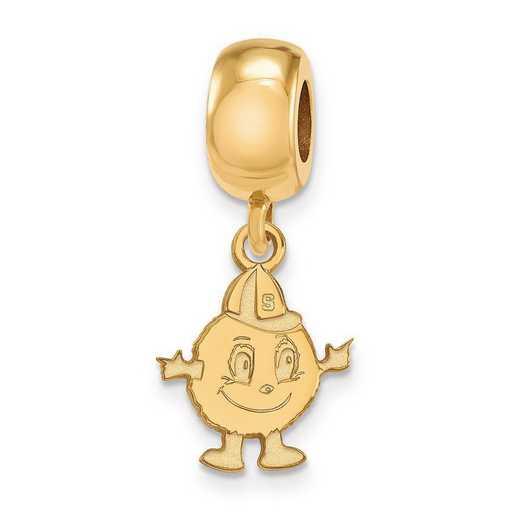 GP035SYU: SS W/GP Logoart Syracuse Univ Small Dangle Reflection Beads