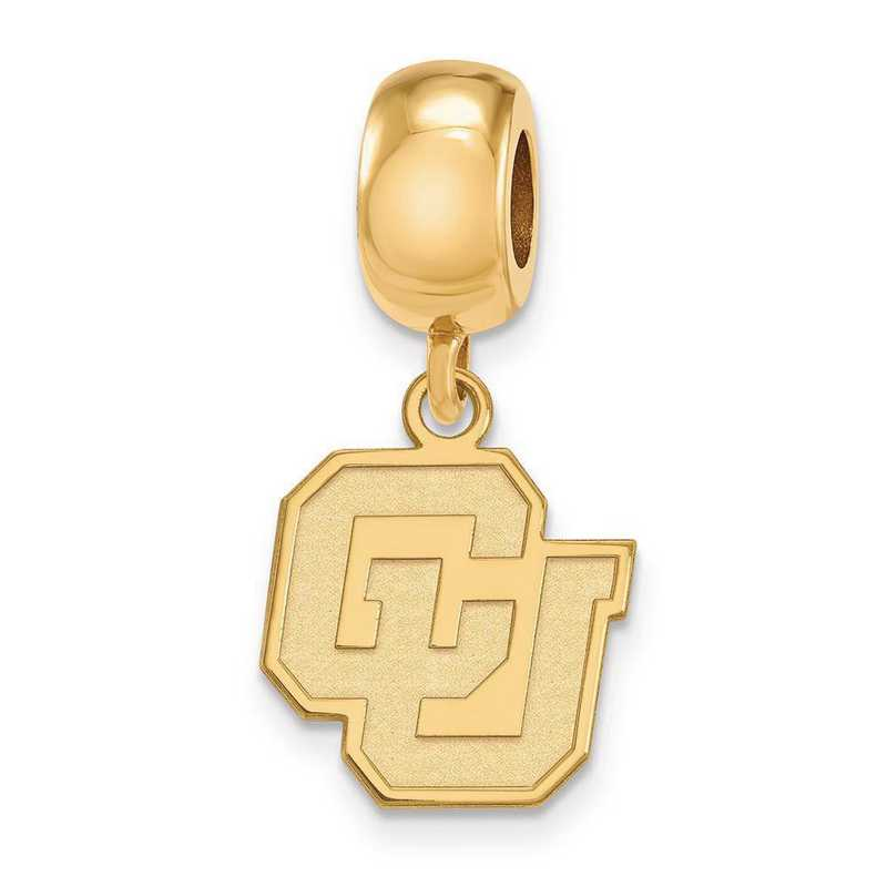 GP035UCO: SS W/GP Logoart Univ Of Colorado Small Reflection Beads