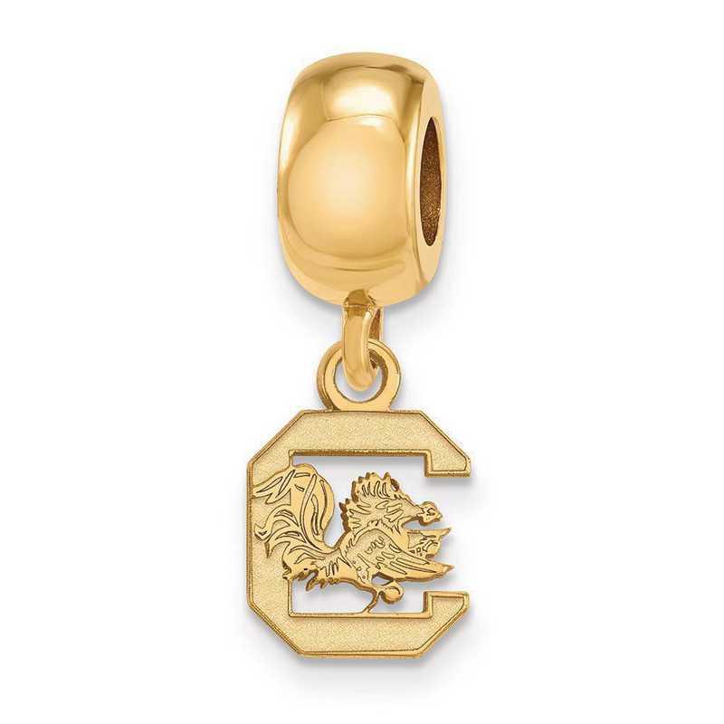 GP035USO: SS/GP Logoart U Of South Carolina Xs Reflection Beads Charm