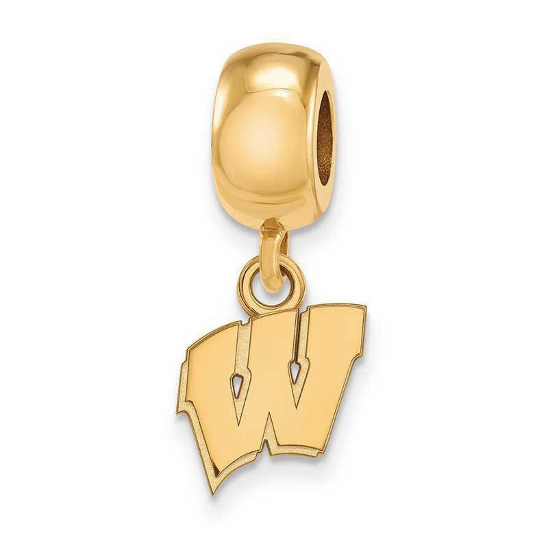 GP035UWI: SS W/GP Logoart Univ Of Wisconsin Xs Reflection Beads Charm