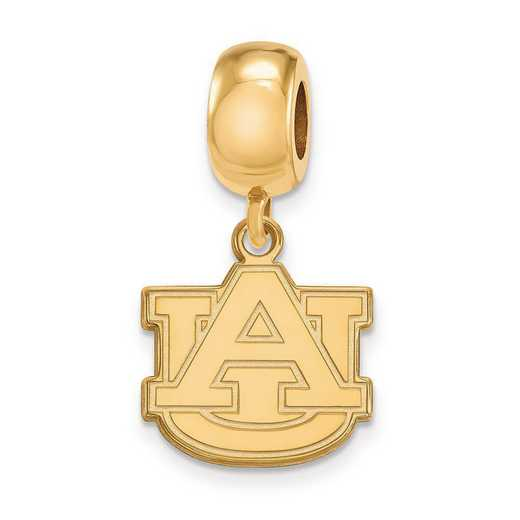 GP036AU: SS W/GP Logoart Auburn Univ Small Dangle Reflection Beads