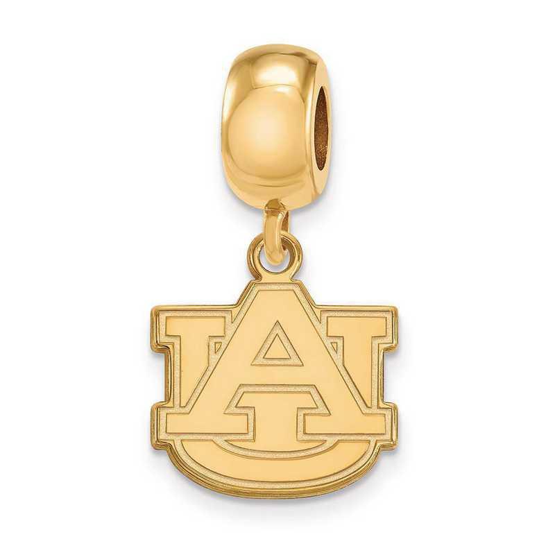 GP036AU: SS W/GP Logoart Auburn Univ Small Dangle Reflection Beads