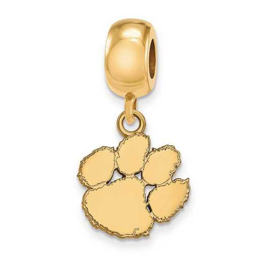 GP036CU: SS W/GP Logoart Clemson Univ Small Dangle Reflection Beads