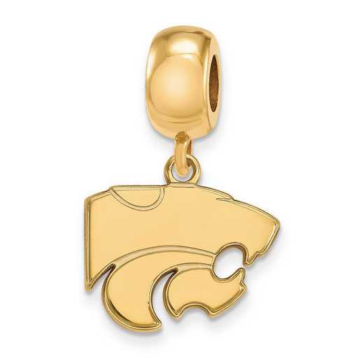 GP036KSU: SS W/GP Logoart Kansas State Univ Small Reflection Beads
