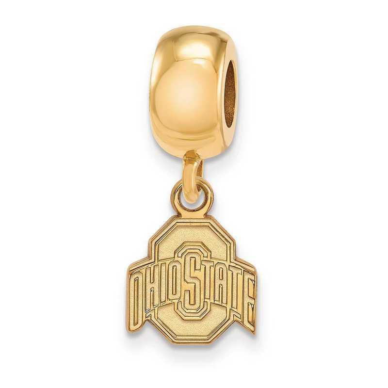 GP036OSU: SS W/GP Logoart Ohio State Univ Xs Reflection Beads Charm