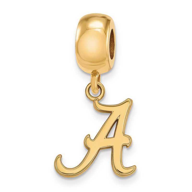 GP036UAL: SS W/GP Logoart Univ Of Alabama Small Reflection Beads