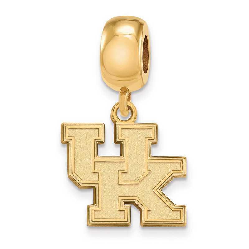 GP036UK: SS W/GP Logoart Univ Of Kentucky Small Reflection Beads