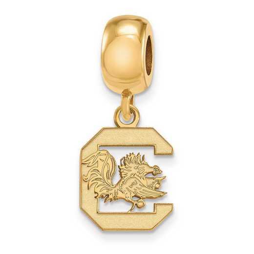 GP036USO: SS W/GP Logoart U Of South Carolina Small Reflection Beads