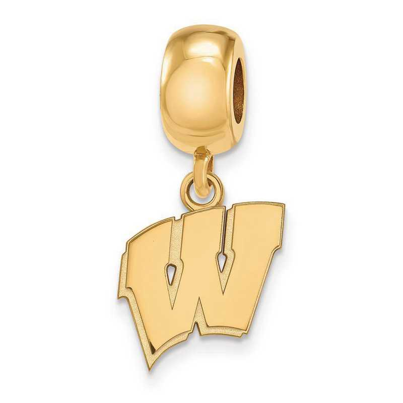 GP036UWI: SS W/GP Logoart Univ Of Wisconsin Small Reflection Beads