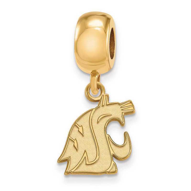 GP044WAS: SS Gp Logoart Washington St. U Reflection Beads Charm Xs Dng