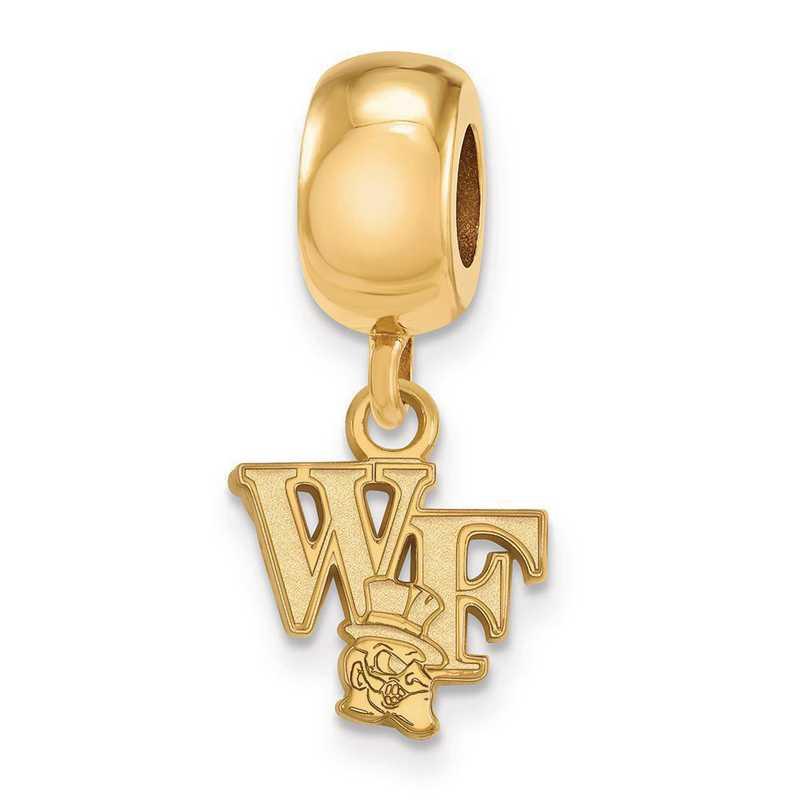GP053WFU: SS W/GP Logoart Wake Forest Univ Xs Reflection Beads Charm
