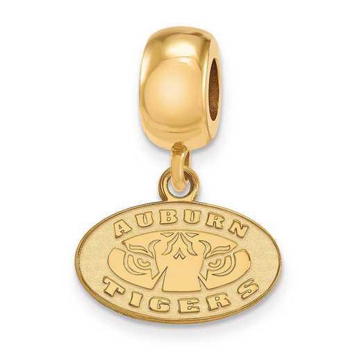 GP056AU: SS W/GP Logoart Auburn Univ Xs Dangle Reflection Beads Charm