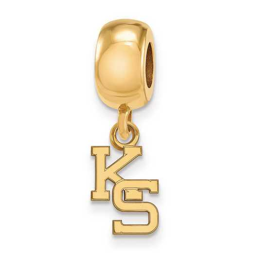 GP058KSU: SS W/GP Logoart Kansas State Univ Xs Reflection Beads Charm