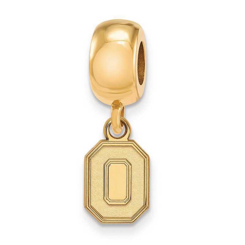 GP058OSU: SS W/GP Logoart Ohio State Univ Xs Reflection Beads Charm