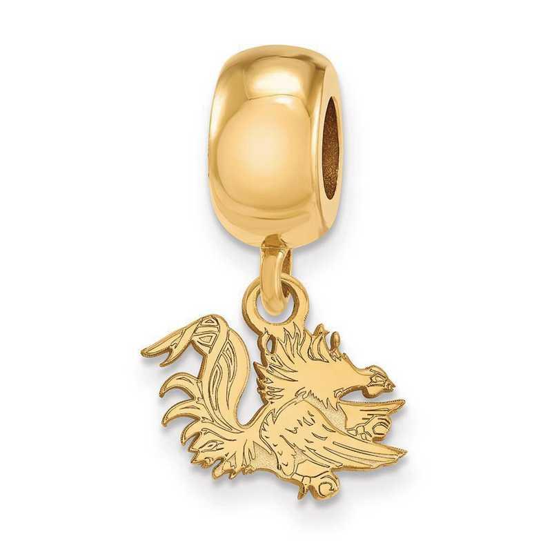 GP058USO: SS/GP Logoart U Of South Carolina Xs Reflection Beads Charm