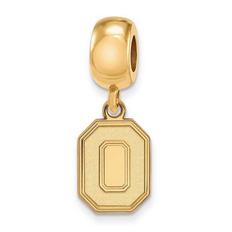 GP059OSU: SS W/GP Logoart Ohio State Univ Small Reflection Beads