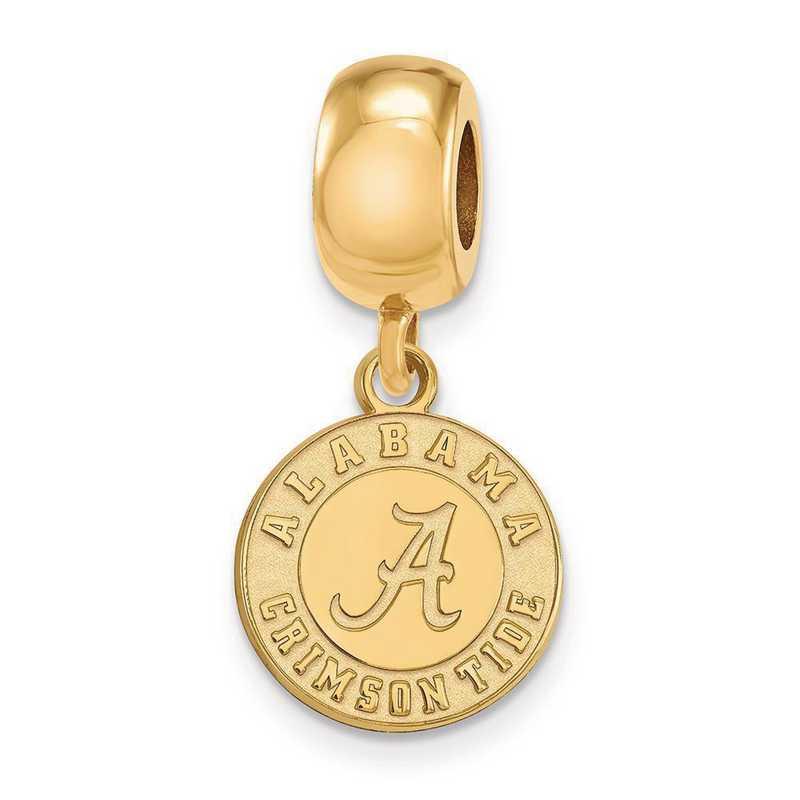 GP059UAL: SS W/GP Logoart Univ Of Alabama Small Reflection Beads
