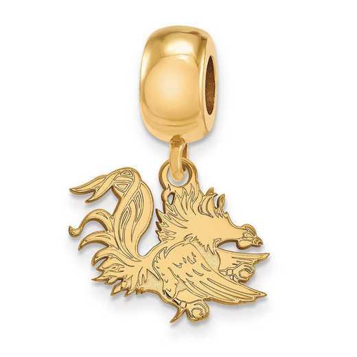 GP059USO: SS W/GP Logoart U Of South Carolina Small Reflection Beads