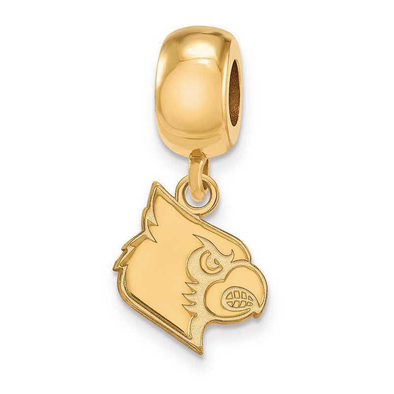 GP060UL: SS W/GP Logoart Univ Of Louisville Small Reflection Beads