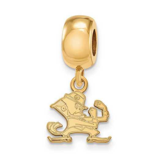 GP060UND: SS Gp Logoart Univ Of Notre Dame Reflection Beads Charm Xs