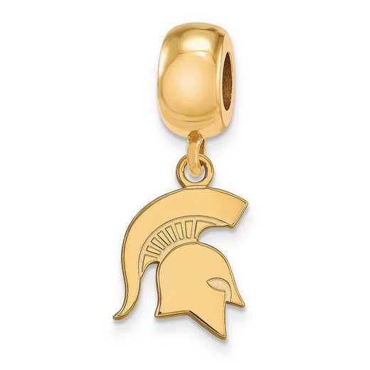 GP062MIS: SS W/GP Logoart Michigan State Univ Small Reflection Beads