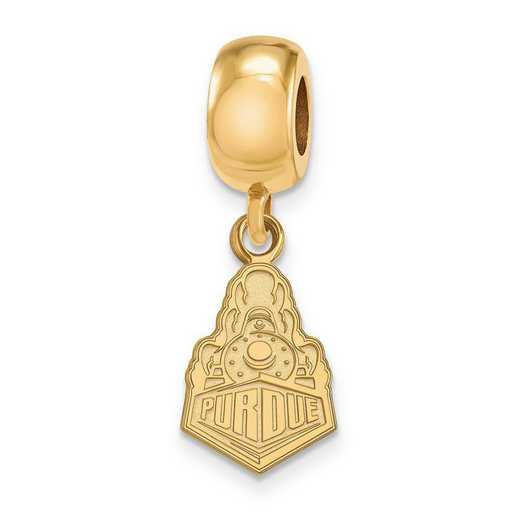 GP062PU: SS W/GP Logoart Purdue Small Dangle Reflection Beads