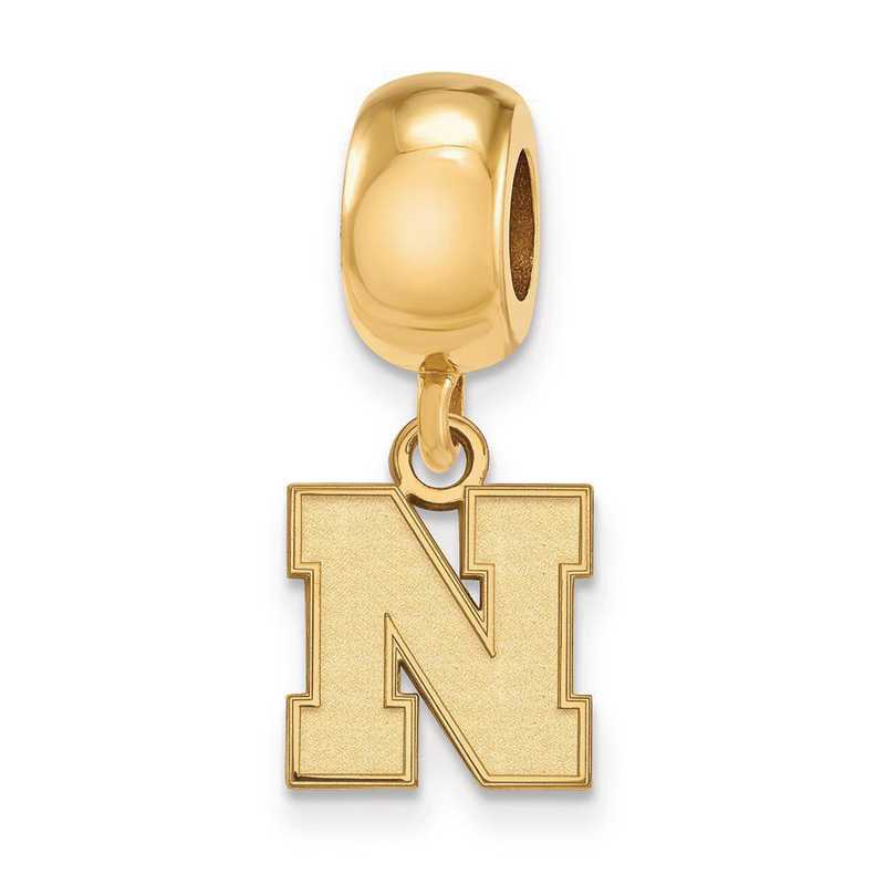 GP081UNE: SS W/GP Logoart Univ Of Nebraska Xs Reflection Beads Charm