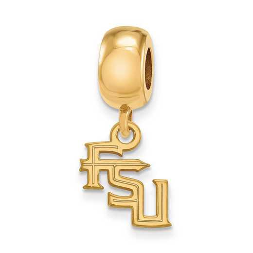 GP097FSU: SS Gp Logo Art Florida State Univ Xs Reflection Beads Charm