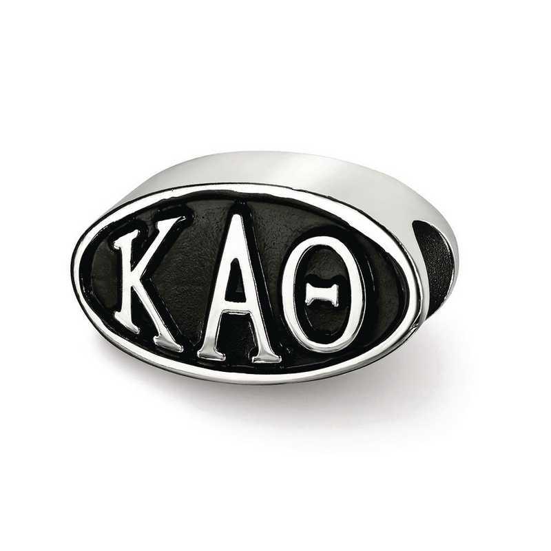 KAT002BD-SS: SS Logoart Kappa Alpha Theta Oval Letters Reflection Beads