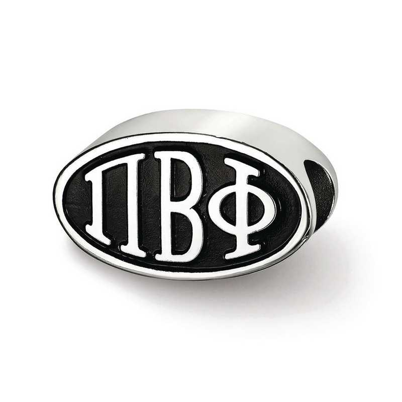 PBP002BD-SS: SS Logoart 15.25Mm Pi Beta Phi Oval Letters Reflection Beads
