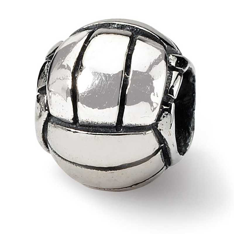 QRS1154: Sterling Silver Reflection Beads Volleyball Bead