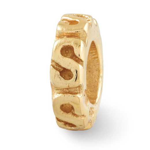 QRS124GP: SS Gold-Plated Reflection Beads Swirl Spacer Bead