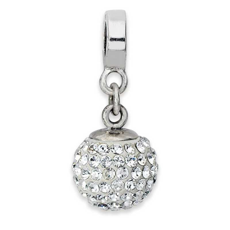 Sterling Silver Reflections Clear Crystal Bead Charm