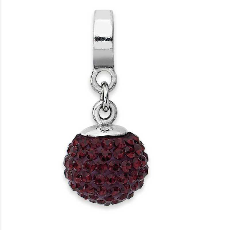 QRS1253JAN: SS Reflection Beads Jan Swarovski Crystal Ball Dangle Bead