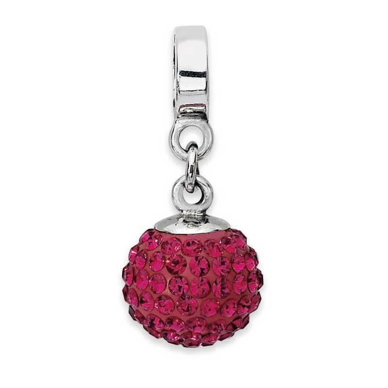 QRS1253JUL: SS Reflection Beads July Swarovski Crystal Ball Dangle Bead