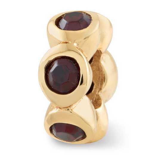 QRS1262GPJUN: SS Gold-Plated Reflection Beads June Swarovski Crystal Bead