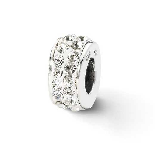 QRS2003: SS Reflection Beads White Double Row Swarovski Crystal Bead
