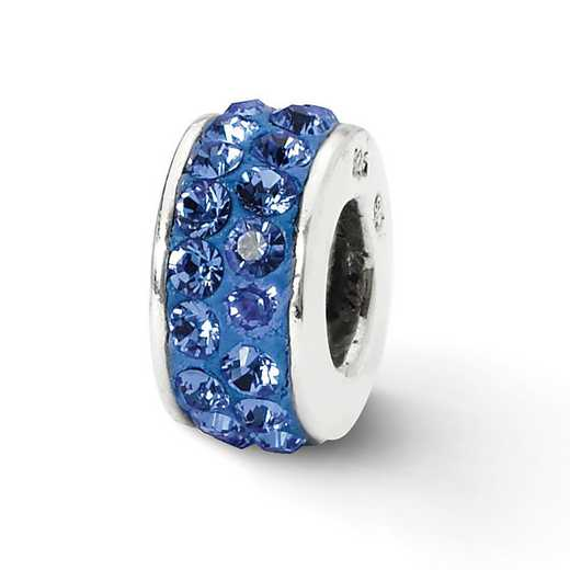 QRS2007: SS Reflection Beads Blue Double Row Swarovski Crystal Bead