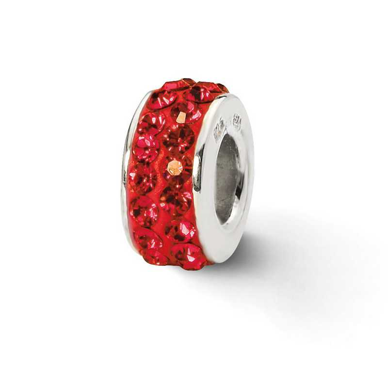 QRS2011: SS Reflection Beads Red Double Row Swarovski Crystal Bead