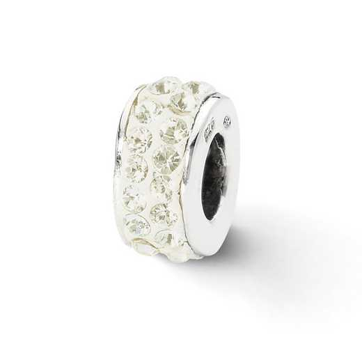 QRS2012: SS Reflection Beads Cream Double Row Swarovski Crystal Bead