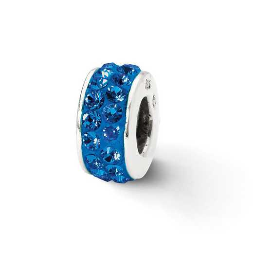 QRS2014: SS Reflection Beads Blue Double Row Swarovski Crystal Bead