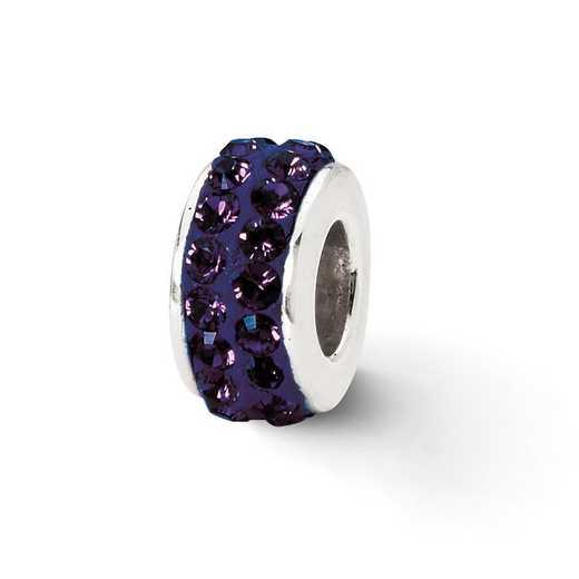 QRS2015: SS Reflection Beads Purple Double Row Swarovski Crystal Bead