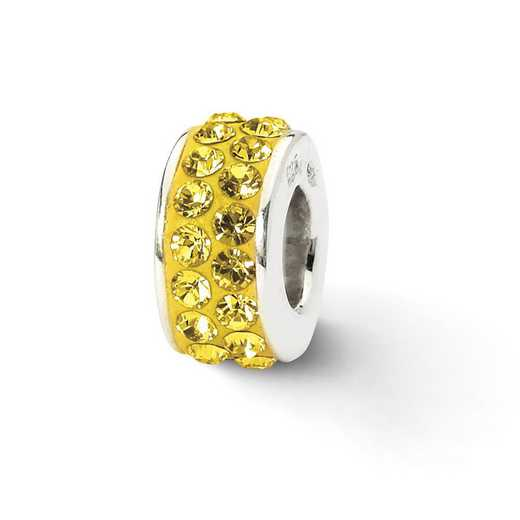 QRS2018: SS Reflection Beads Gold Double Row Swarovski Crystal Bead
