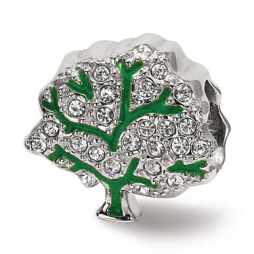 QRS3933: Sterling Silver Reflection Beads Swarovksi Crystal Tree Bead