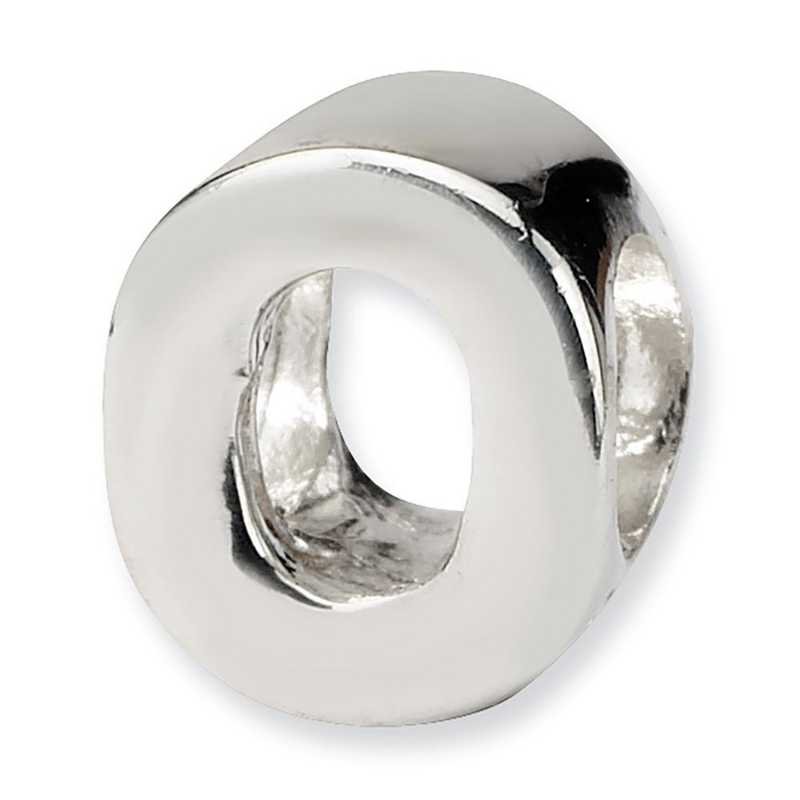 QRS468O: Sterling Silver Reflection Beads Letter O Bead