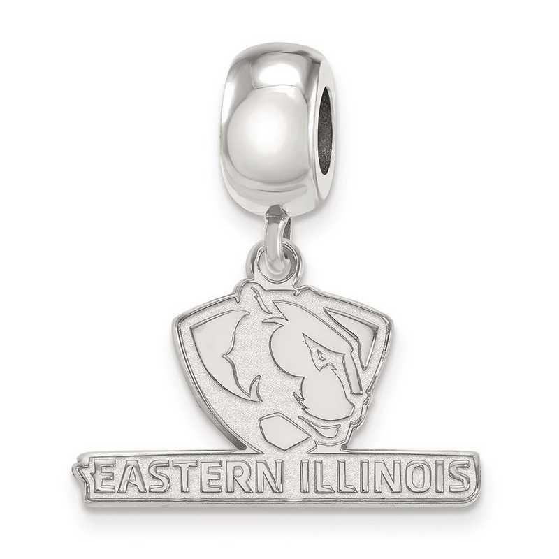 SS009EIU: SS Rh-P Logoart Eastern Illinois Univ Small Reflection Beads
